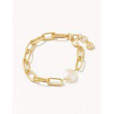 Coin Pearl Chain Bracelet