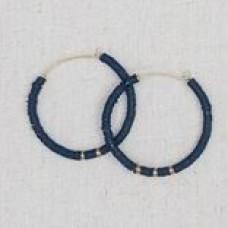 Donnie Earrings-Navy