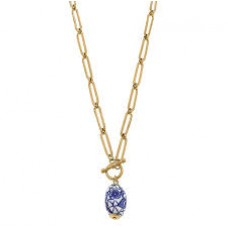 Evelyn  Chinoiserie T Bar Necklace
