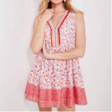 Floral Print Pintuck Dress