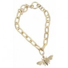 Gold Toggle Chain with Bee Charm