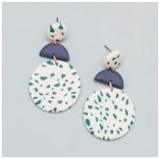 Jordan Earrings-Emerald Speckled