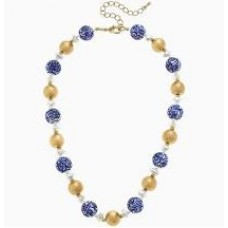 Katherine Chinoiserie & Pearl Necklace