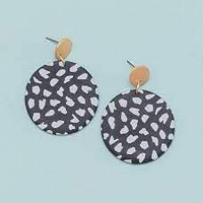Leslie Earrings-Black Wild Dots