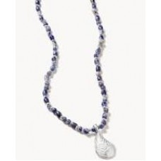 Oyster Alley Necklace-Blue Sodalite