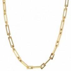 Rectangular Gold Link Chain