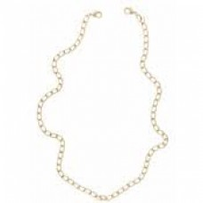 Rounded and Circular Gold Link Chain