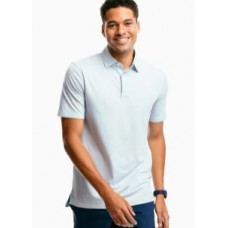 M SS Ryder Geo Print Perf Polo