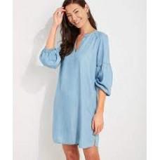 W. Chambray Tunic Dress