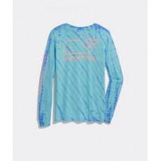 W. Ocean Tie Dye Vintage Whale LS Tee