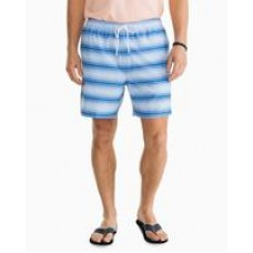 Gradient Stripe Swim Trunk - Sky Blue