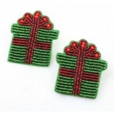 Christmas Present Beaded Earring