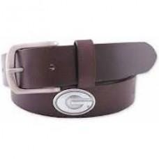 UGA Leather Belt