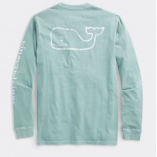 Garment Dyed Vintage Whale LS Tee