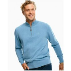 Jade Heather Croaker 1/4 Zip Sweater