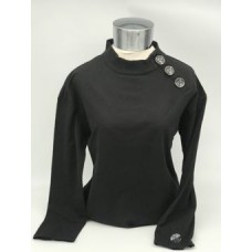 CSP5114 Mock Neck Top w/ 3 Buttons