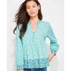 Tonal Floral Tiered Top