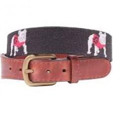 UGA Needlepoint Belt Standing Dog