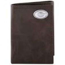 UGA Tri Fold Wallet-Lt Brown